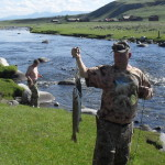 Речной ленок выловленный на северном притоке Хубсугула