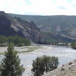 Долина реки в начале сплава и среднего течения